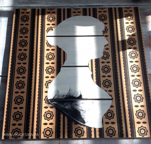 DIY Jane Austen Silhouette Art On Wood
