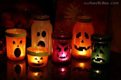 Craft Ideas Mason Jars on 15 Cool Diy Halloween Lanterns And Luminaries   Shelterness
