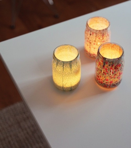 DIY Jar Relaxing Candle Holders