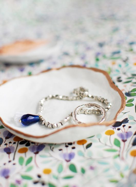 Diy Jewelry Dish With Copper Touches