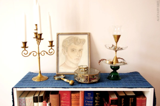 Diy Jewelry Stand Of Glass And Brass Tableware