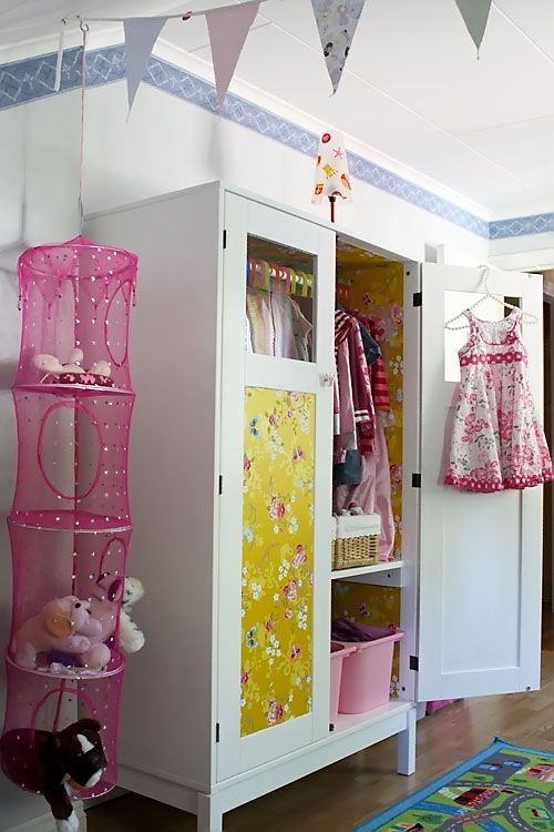 DIY Kids Wardrobe From IKEA's Computer Cabinet