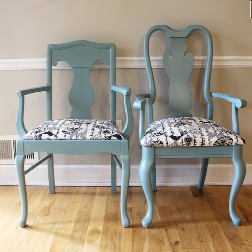 Diy Kitchen Chairs Painting And Reupholstering