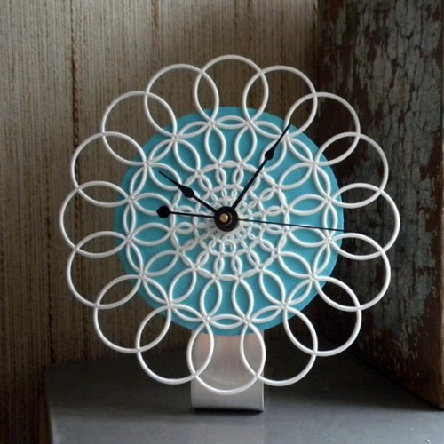10 Cool Lace Wall Clocks You Can Make