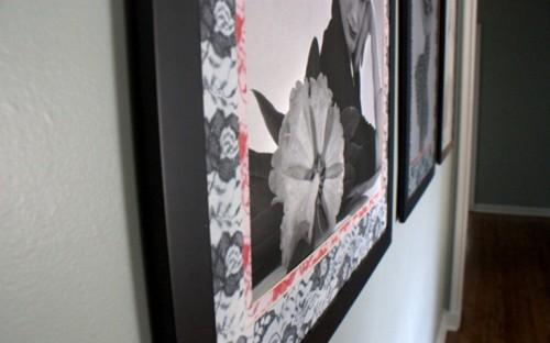 Diy Lace Photo Frames