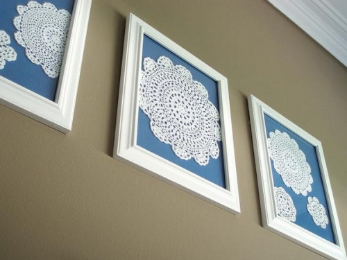 Diy Lace Wall Art