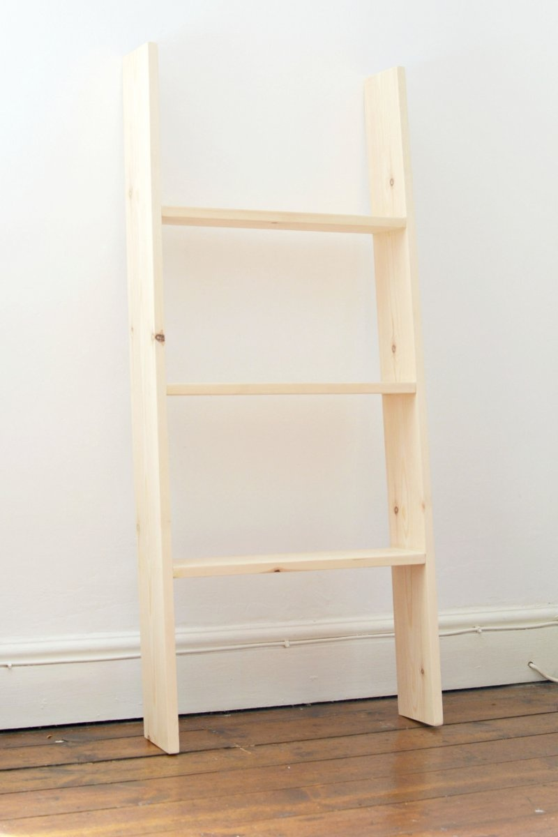 Picture of diy ladder shelf perfect for small spaces 3 for Diy ladder bookcase