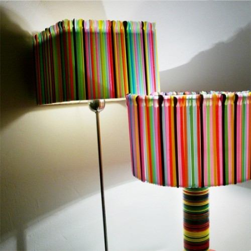 DIY Lamps Made Of Plastic Tableware