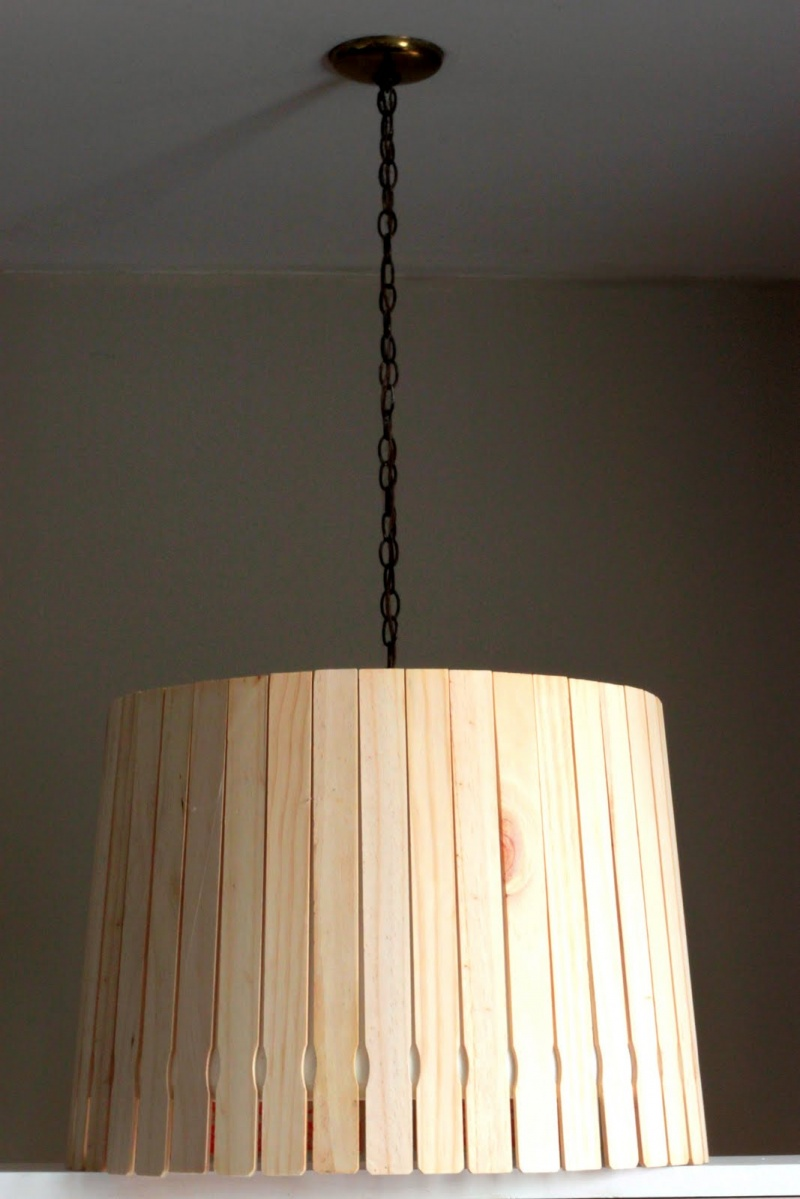 Diy Lampshade Of Paint Sticks