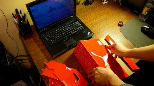 Diy Laptop Stand Made Of Shoe Box