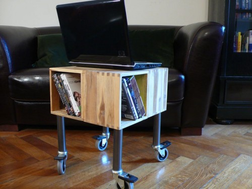 Diy Cheap Mobile Laptop Table Shelterness