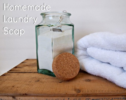 diy laundry soap with an amazing smell (via thelearnerobserver)