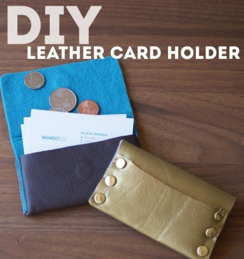 DIY Leather Business Card Holder