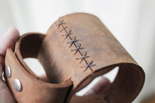 Diy Leather Mason Jar Sleeve Shelterness
