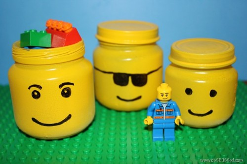 DIY Lego Head Storage Jars (via obseussed)