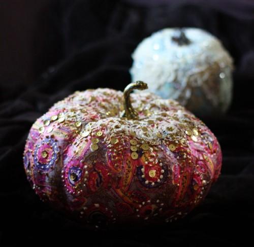 Diy Liberace Pumpkin As A Colorful Fall Decor Piece