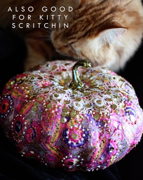 Diy Liberace Pumpkin As A Colorful Fall Decor Piece