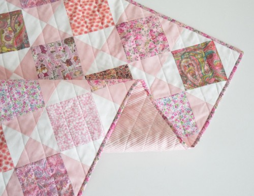 DIY Liberty Quilt With Square In A Square Pattern