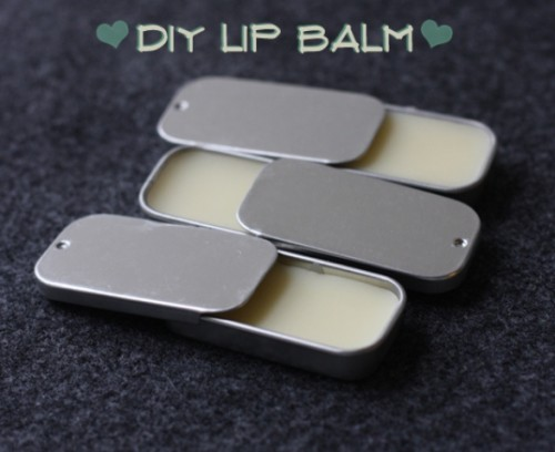 DIY Lip Balm With Essential Oils