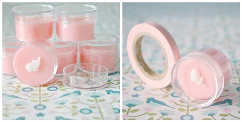 DIY strawberry lip balm