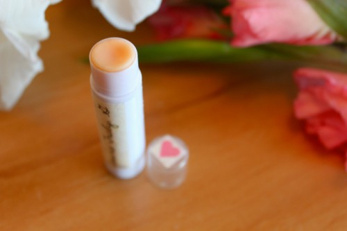 DIY safflower lip balm