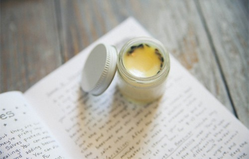 DIY herb lip balm