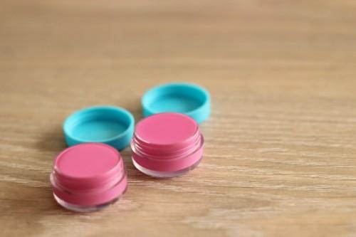 DIY pink lip balm