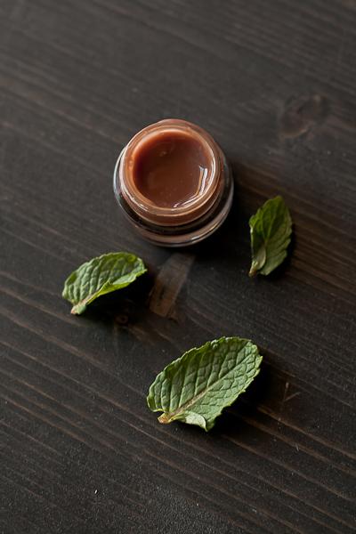 DIY mint chocolate mint gloss