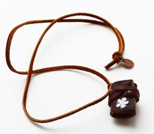 Diy Little Leather Journal Necklace