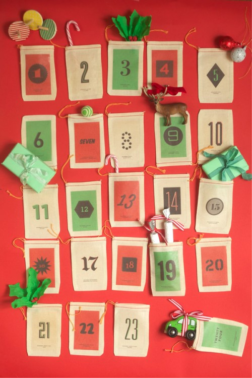 DIY Little Sacks Advent Calendar