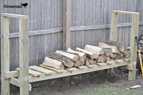 simple wooden log holder (via homeroad)