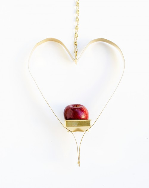 Diy Love Heart Bird Feeder