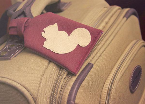 squirrel luggage tags