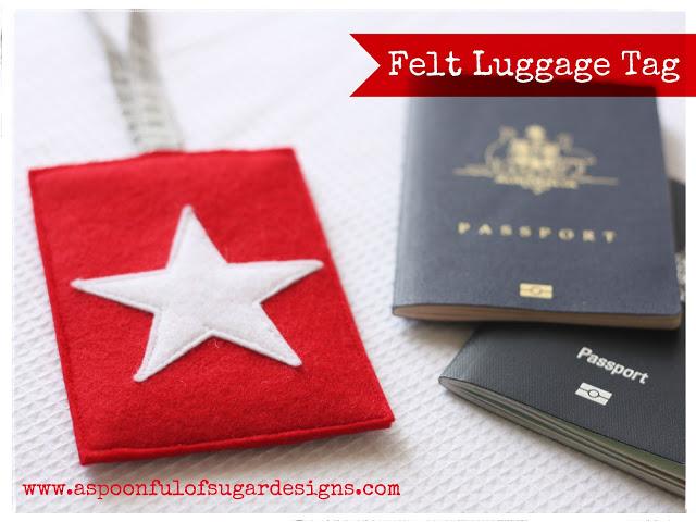 felt luggage tags
