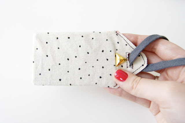 polka dot luggage tags