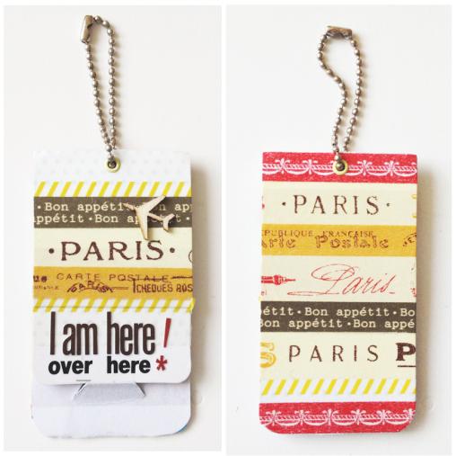 washi tape suitcase tags