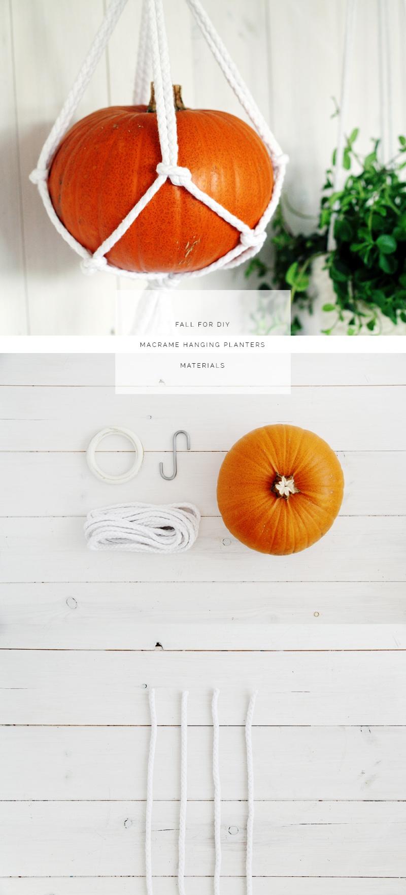 Diy Macrame Hanging Pumpkins