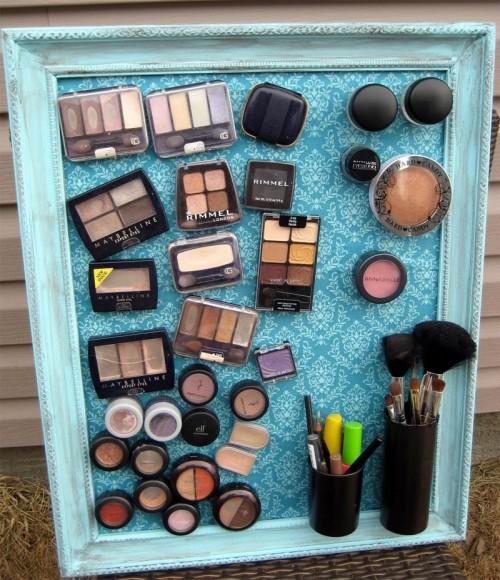 Diy makeup magnet board 1 500x580