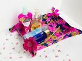 ribbon-tie vanity basket