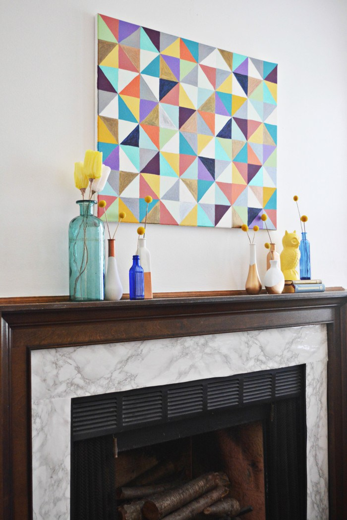Picture Of diy marble fireplace makeover with contact paper  1
