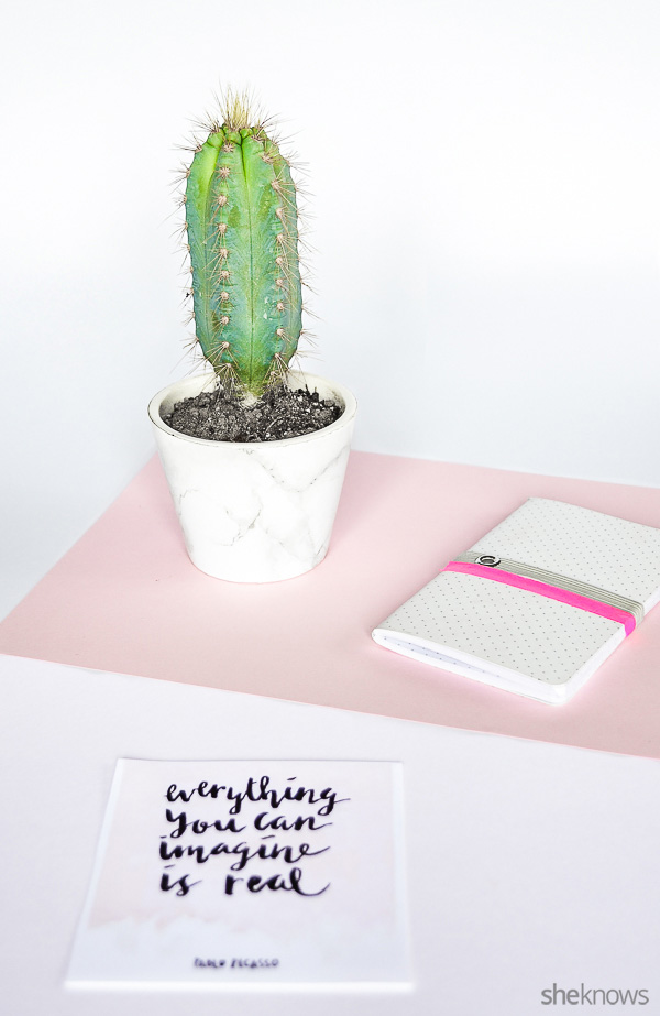 Picture Of diy marble planter to glam up your plants  4