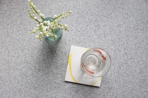 DIY Marble Tile Coasters With Nails Polishes