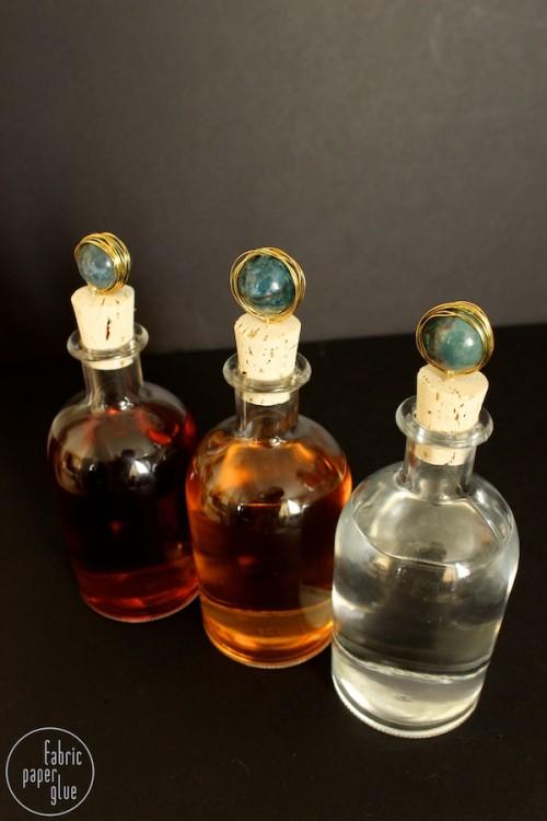 Diy Marble Topped Spirit Bottles