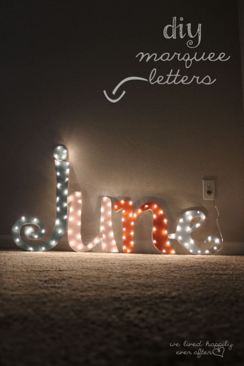 DIY Marquee Letters Of Cardboard Shelterness