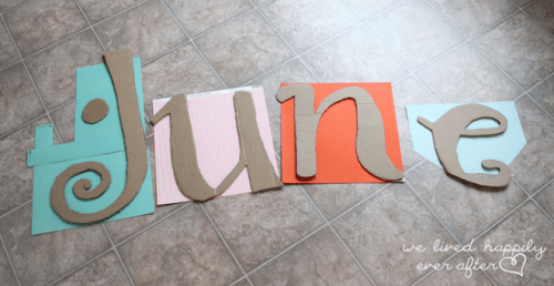 how to make large cardboard letters