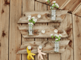 rustic mason jar wall piece