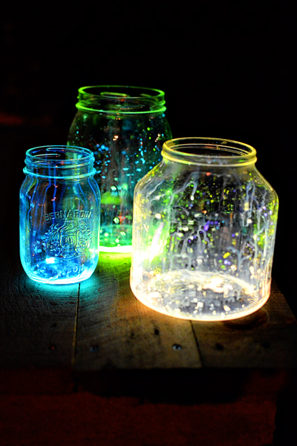 Glow Jars Via Intimateweddings