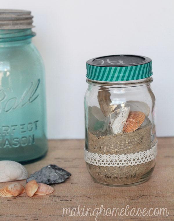 beachy mason jar terrarium