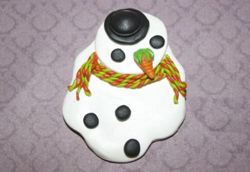 DIY Melting Snowman Hanging Ornament