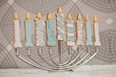 Homemade Hanukkah Cookie Menorah